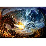 Jiamins Neue Design 5d Diamant Painting Set, Drachen(30cmx40cm/12inx16in) - DIY Kunst Stickerei Set...
