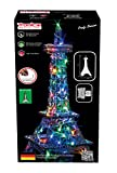 Tronico Metal Construction Set, Eiffel Tower, 77x32x32 cm, 48 LED Lights, 1280 pieces 4 coloured manual, 12+ Years,