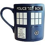 Official Doctor Who Matt Finish TARDIS Design Coffee Mug Gift - Boxed