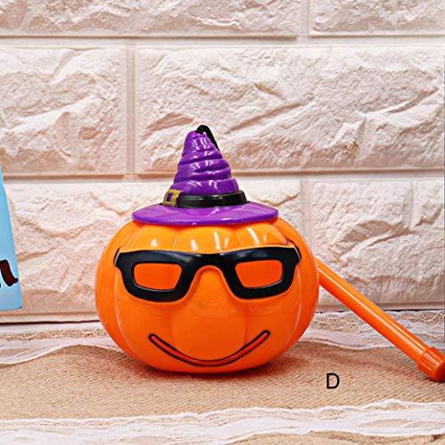 TAOtTAO Halloween Kürbis Licht Lampe Voice-aktivierten Flashing Decor LED Laterne für Kinder (D)