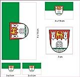 U24 Aufkleberbogen Wolfsburg Aufkleber Set Flagge Fahne