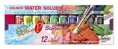 Duo Aqua Oil Color (Holbein Aqua Oil Color DUO P Starter Set 10ml (japan import))