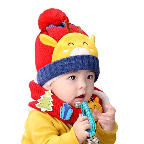 Tefamore cervato además de terciopelo bebé lindo sombrero silenciador traje de una pieza (1-4 Años,