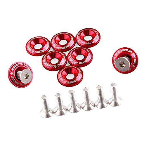 Preisvergleich Produktbild Sharplace 8 x Direkt Ersatz Kotflügelschrauben Unterlegscheiben Fenderwasher für Autos - Rot