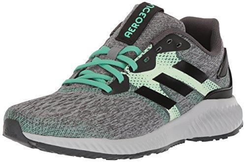 adidas Performance Women's Aerobounce w Running Shoe, Core Black/Aero Green/Hi-Res Green, 11 M US
