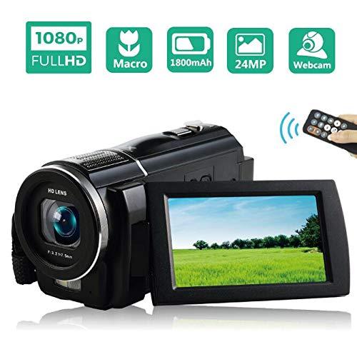 Videokamera Camcorder Full HD 1080P 30FPS Camcorder Kamera Makro Vlog Kamera 24MP Camcorder Mit Fernbedienung - Camcorder Kamera