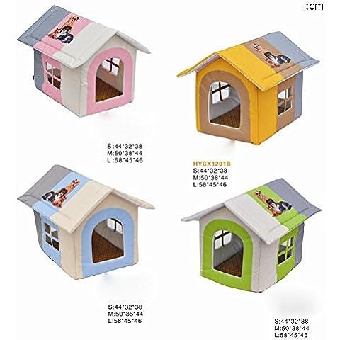 Casa dell'animale domestico dell'animale domestico di colore corrispondente camera tre-Oxford panno, cani di piccole taglia e gatti Home Premium stuoia tessuto, spugne di alta qualità per uso umano, anti-graffio, cute, cane in modello di trasferimento di , pink , l - Premium Piccoli Animali