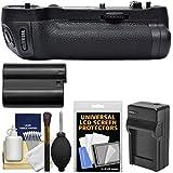 Vivitar MB-D17 Pro Series Multi-Power Battery Grip For Nikon D500 DSLR Camera With EN-EL15 Battery & Charger + Kit