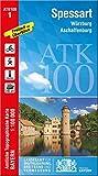 ATK100-1 Spessart (Amtliche Topographische Karte 1:100000): Würzburg, Aschaffenburg, Bad Kissingen, Hammelburg, Karlstadt, Lohr a.Main, Gemünden ... Topographische Karte 1:100000 Bayern, Band 1)
