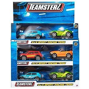 Teamsterz-4x4 Vehículo 4 X 4 Die Cast con Remolque, Multicolor (CYP Brands 1373536)