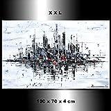 Malerei Wandbild Acryl Gemälde Kunst Zenic Stadt Skyline New York City