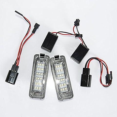 2pcs LED Kfz-Kennzeichen-Lichter-Lampen-Birnen SMD3528 Zahl-Platten-Licht für VW Golf GTI 5 6