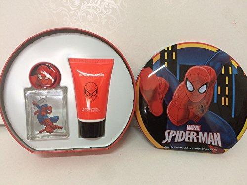 Scatola di latta spiderman profumo e bagnodoccia idea regalo