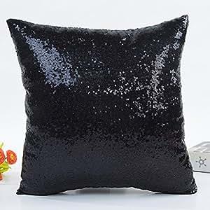 Hearsbeauty glitter paillettes cuscino cuscino di casa auto vita Decor–oro rosa Black