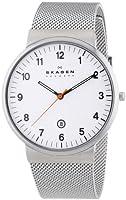 Skagen SKW6025 - Reloj analógico de cuarzo para hombre, correa de acero inoxidable color plateado de Skagen