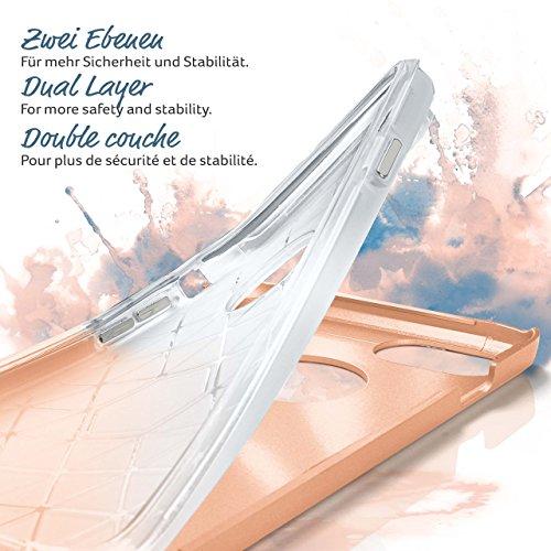 Evasion Case für iPhone 7 Plus | Dual Layer Handyhülle aus Silikon und TPU | Zubehör Cover zum Handy Schutz | Handyhülle Bumper Tasche gebürstet Aluminium Optik in Gloom SPIRIT