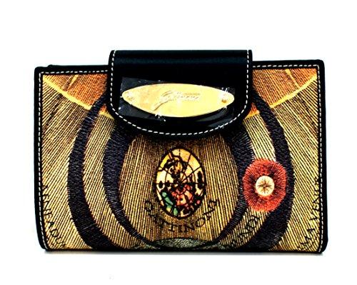 Gattinoni Portafogli Donna Wallet Flap Placca Oro Cm 16x11x2 Multicolore
