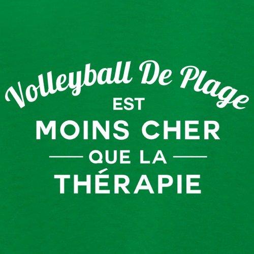 Volleyball de plage est moins cher que la thérapie - Femme T-Shirt - 14 couleur Vert