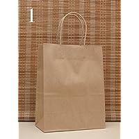 50 Pezzi Sacchetto Borsa Carta Kraft Wedding Bag Naturale Misura