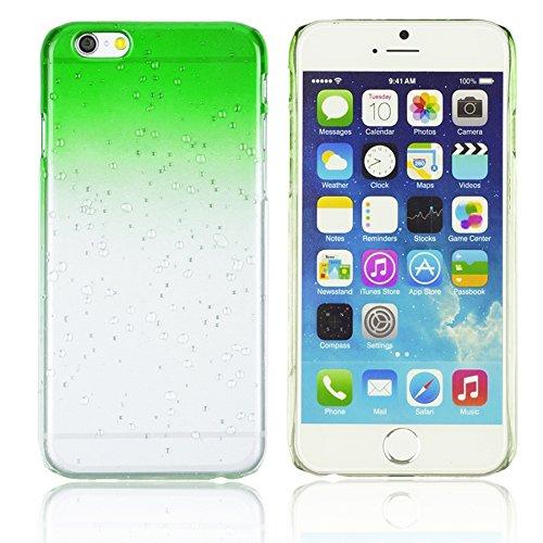 OBiDi - Transparent Gradient Water Drop Design Hard Back Case / Housse pour Apple iPhone 6 Plus / 6S Plus (5.5)Smartphone - Jaune avec 3 Film de Protection Vert