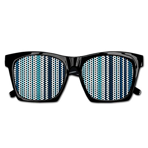 EELKKO Mesh Sunglasses Sports Polarized, Vertical Striped Pastel Toned Color Bands Lines Background Nautical Design,Fun Props Party Favors Gift Unisex