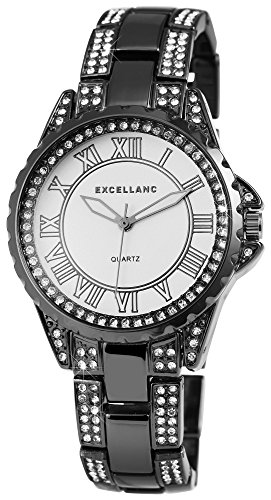 Women's Watch White Titan Look Rhinestone Roman Numerals Watch