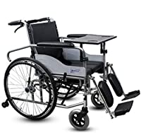 YB Wheelchair,Full Reclining high Back Detachable armrest with Dining Table seat Wheelchair
