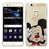 """VComp-Shop® Custodia trasparente in silicone TPU per smartphone, con motivo del cartone Disney """"Buon Natale!"""" per Huawei P10 Lite 5.2"""