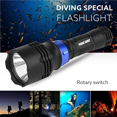 TopTen Fan-Motive Unterwasser Taschenlampe, 1200Lumen 500m Tauchen Wasserdicht Handheld Camping Licht für Angeln Jagd Wandern und Outdoor Aktivitäten Iphone 4-körper-handschuh-fall