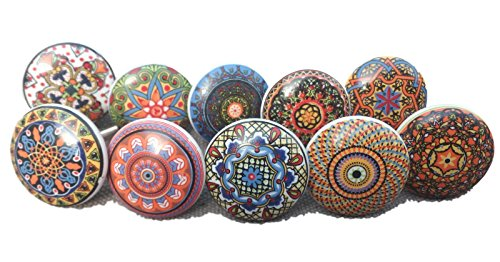 10 tiradores vintage cerámica distintos