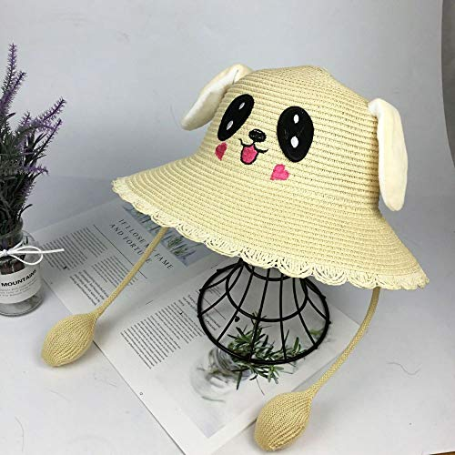 geiqianjiumai Ohren bewegen Kaninchen Fischer Hut weiblich Eltern-Kind Sonnenhut Kinder Sonnenhut Stroh weiße - Weibliche Weiße Kaninchen Kostüm