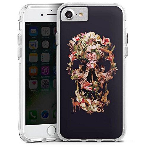 Apple iPhone 6s Bumper Hülle Bumper Case Glitzer Hülle Totenkopf Skull Schädel Bumper Case transparent