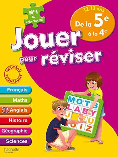 Jouer pour réviser - De la 5e à la 4e 12-13 ans - Cahier de vacances