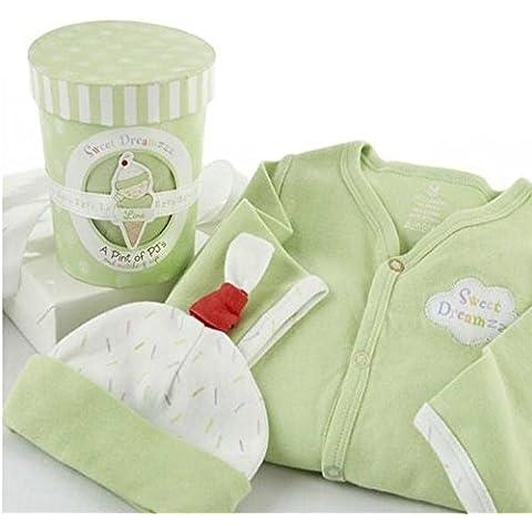 Baby de Aspen BA16008lm S -- s Drea mzzz a pinta of PJ & Apos; s Dormir de Time de Set de regalo de Lime