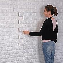 3D Modello Brick Adesivi Murali,Rimovibile Fai da te Art Disegno Tridimensionale Wall Stickers,Decorazione da Muro per Camera da Letto Salone Ufficio della Parete TV (1)