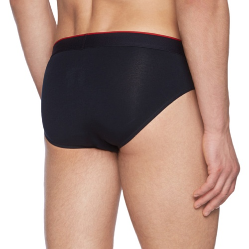 GANT Herren Retroshorts HIP BRIEF CTN STR SOLID Schwarz (BLACK 5)
