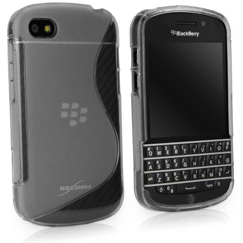 BoxWave BlackBerry Q10DuoSuit–schmalem Ultra langlebig TPU Fall mit stylischen S Design auf der Rückseite–Premium Stoßdämpfung (mattiert) transparent