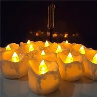 Welltop 12 Confezione senza fiamma Tealight candele a LED Flickering
