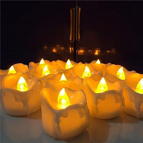 Welltop 12 Pack Flameless Tealight Candles LED Flickering Tea Light