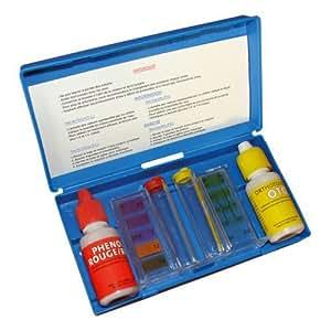 Trousse d'analyse chlore/brome/pH piscine et spa.