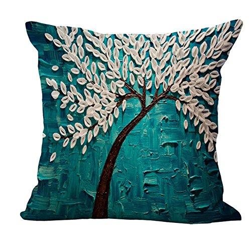 Nunubee lino shabby chic copricuscini e federe cuscini decorativi per divano letto 45*45cm