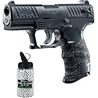 SET:Walther® P22Q Metallschlitten Federdruck Softair unter 0,5 Joule 6mm + G8DS® Softair Munition BIO BBs Premium Selection 2000 Stück 0,20 g 6mm