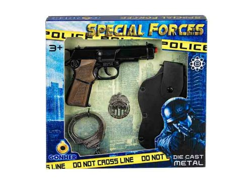 Gonher - Coffret Police, Pistolet 8 Coups (425/6)