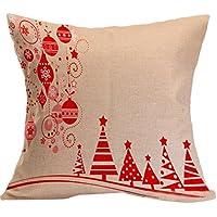 Fami Natale cuscino federe divano tiro copre decorazioni per la casa M