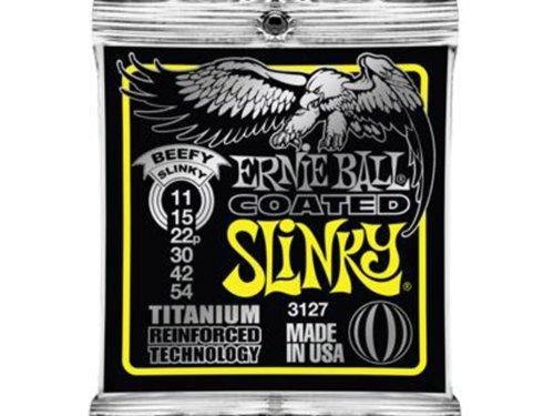 Ernie Ball Coated Slinky 3127 Saitenset - E-gitarre Les Paul