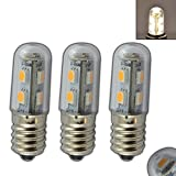 3x Stk. E14 LED mini Lampe 1,0 Watt warmweiß für Kühlschrank, Nähmaschine, E14/SES Leuchtmittel Birne Glühbirne Ersatz
