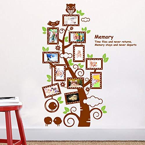GE Hot Wall Decal Großer Wandaufkleber mit Bilderrahmen und Baum, für Wohnzimmer, Schlafzimmer, abnehmbar
