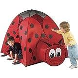 Jumbo Ladybug Play Tent Tunnel Hut Carry...