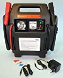 HOFFTECH Mobile STARTHILFE 900A Powerpack Starterkabel + Kompressor + Signalleuchte