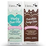 I Love... Pack of 2 Shower Gel Christmas Giftsets Chocolate & Mint